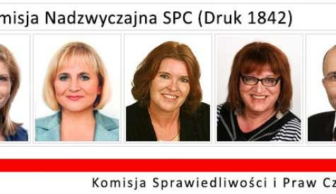 Pierwsze posiedzenie podkomisji SPC w sprawie projektu nr 1842
