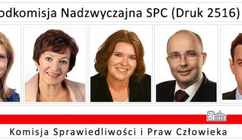 Uwaga! Ostatnie posiedzenie Podkomisji SPC - nasz projekt zmian